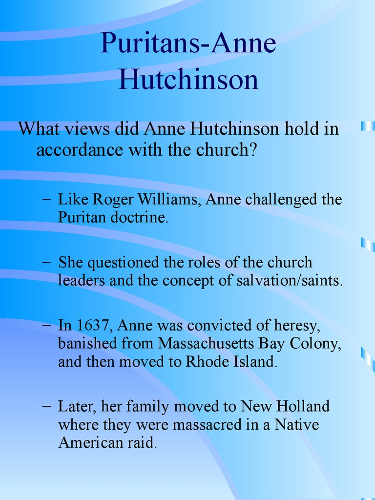 anne huntchinson letter to relative The scarlet letter by nathaniel hawthorne source of book: i own this as regular followers of this blog recall, i participate in an online book club, hosted by my.
