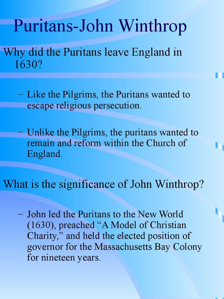 john winthrop and the puritan belief