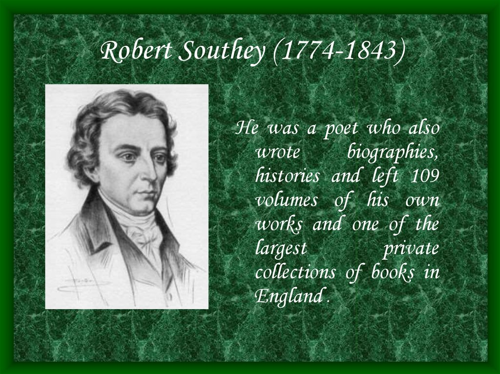Robert Southey (1774-1843)