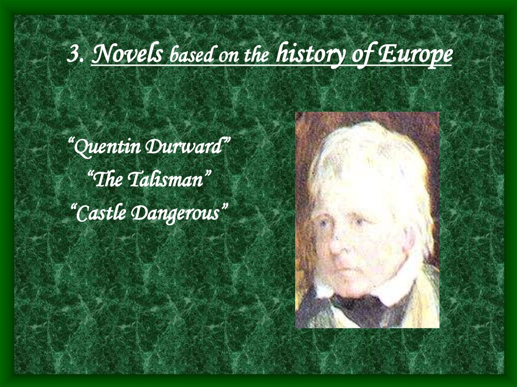 3. Novels based on the history of Europe