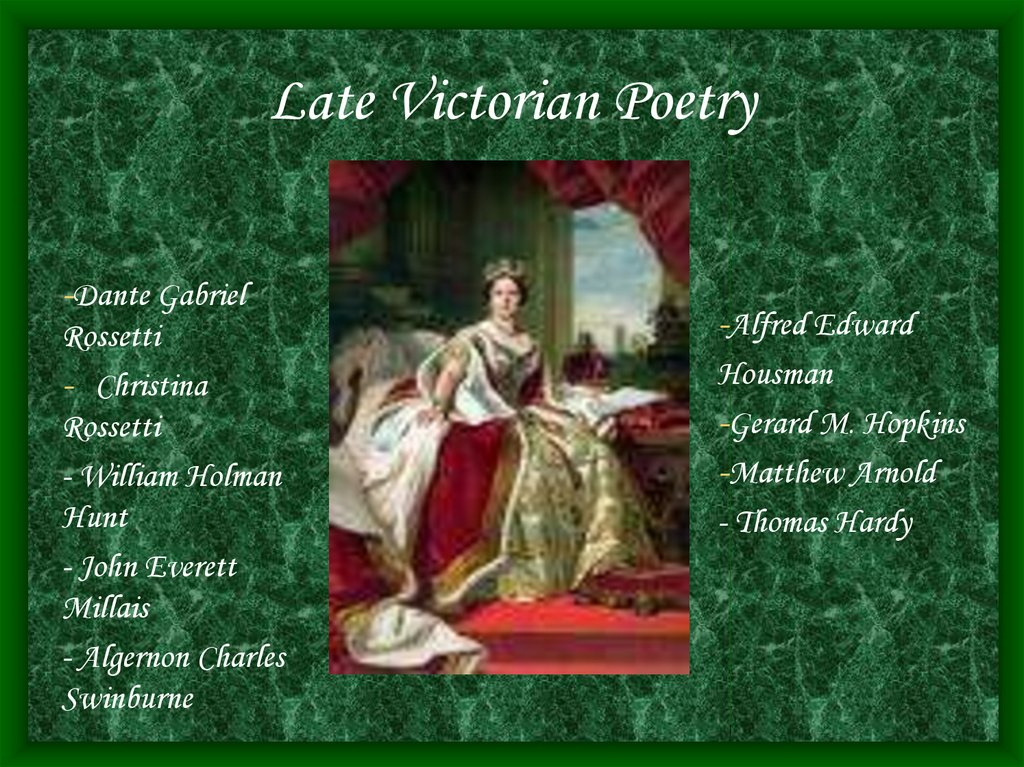 Late Victorian Poetry