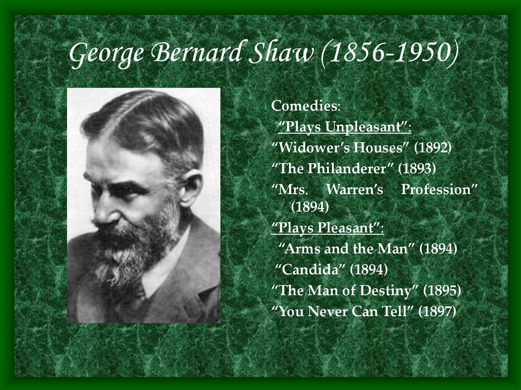 the man of destiny by george bernard shaw essay George bernard shaw (/ˈdʒɔːrdʒ ˈbɜːrˌnərd ʃɔː/ 26 july 1856 - 2 november 1950), known at his insistence simply as bernard shaw, was an irish playwright, critic and polemicist whose influence on western theatre, culture and politics extended from the 1880s to his death and beyond.