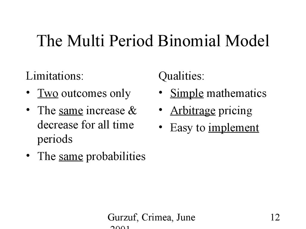 optimization of the standard binomial option pricing model An introduction into option pricing understanding how option pricing works and the components that determine an option price for more information visit wwwtradesmartucom.