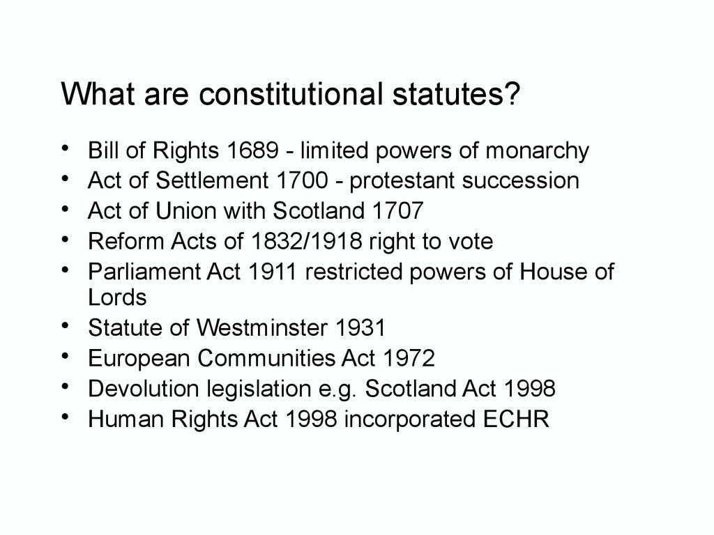 What are constitutional statutes?