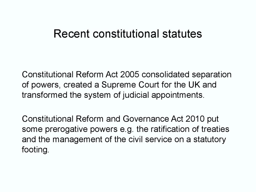 the reform of the british constitution
