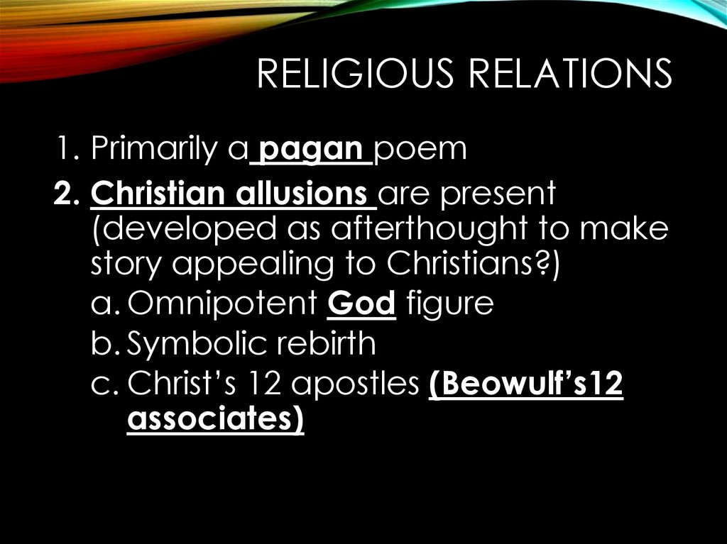 Beowulf christian or pagan essay