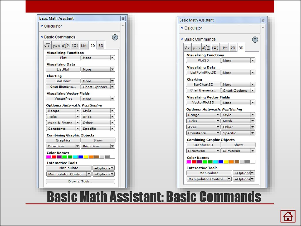 Basic Math Assistant: Basic Commands