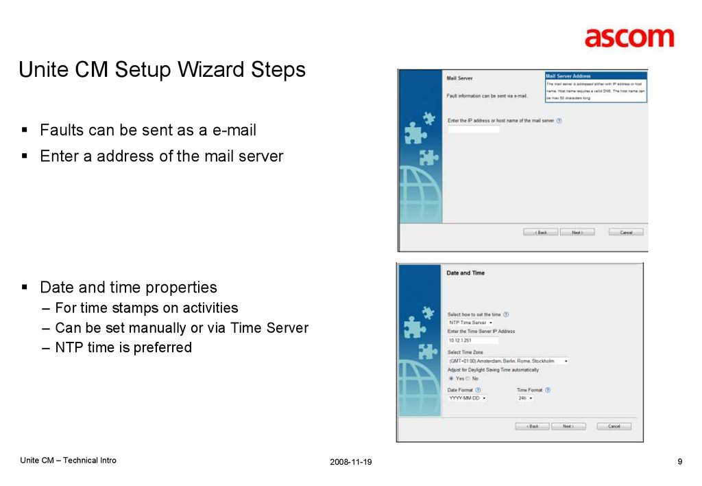 IMS3/UniteCM Settings IMS3 IP Address Used for messaging