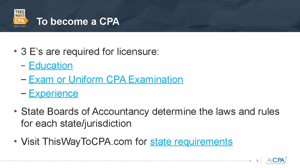 an introduction to becoming a certified public accountant cpa Certified public accountant - cpa interested in becoming an accountant to take the cpa exam offer a introduction to auditing and further cpa exam.