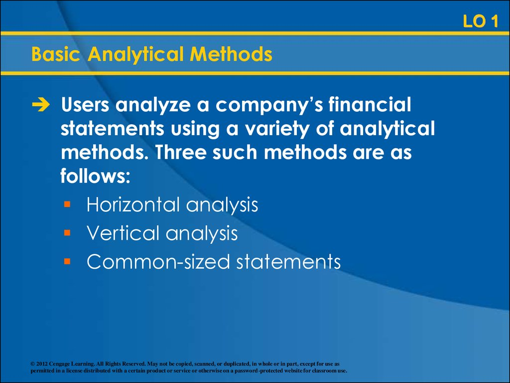 difference between horizontal and vertical analysis of financial statements By examining this example of a horizontal analysis it is possible to gain insight into the purpose and usefulness of this type of financial tool by comparing figures or financial ratios from the financial statements over a particular period of time, such as two years or more, important trends and information can be obtained.