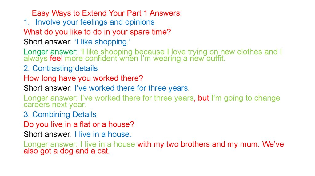 Easy Ways to Extend Your Part 1 Answers: