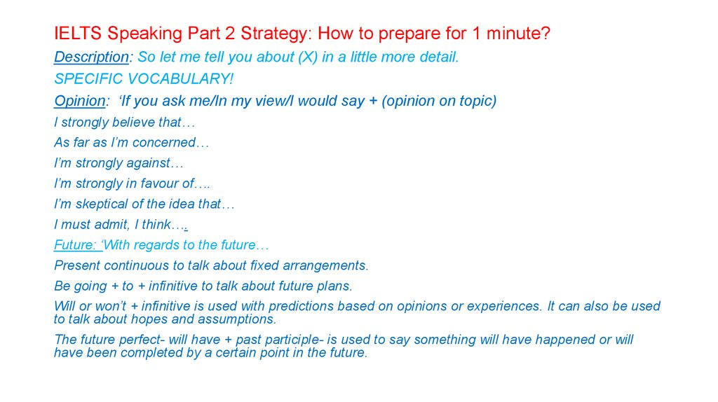 IELTS Speaking Part 2 Strategy: How to prepare for 1 minute?
