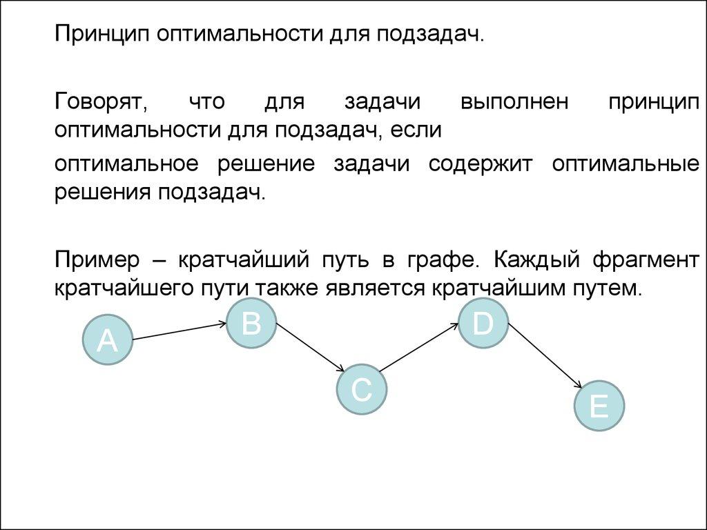 Принципы решения задач динамического программирования коэффициент фондов решение задач пример
