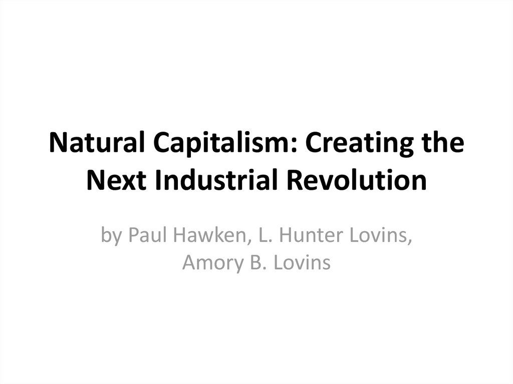 capitalism industrial revolution