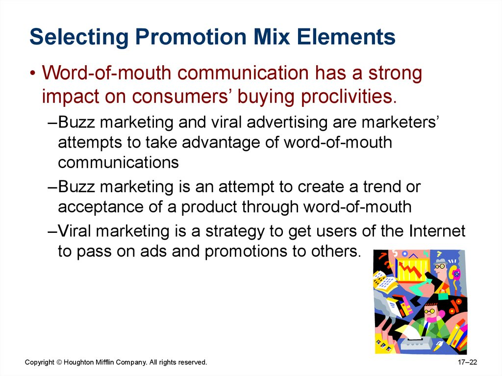 Selecting Promotion Mix Elements