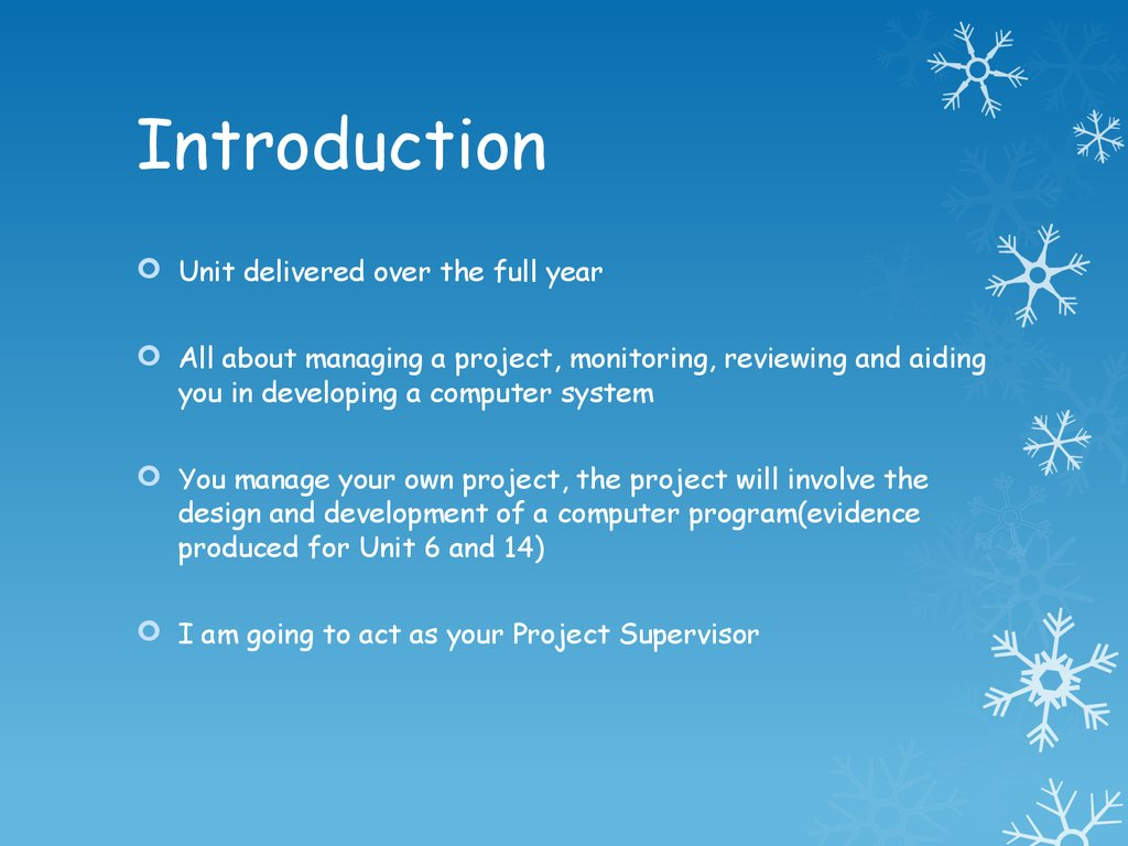 Unit 17 It Project Introduction What Is Project