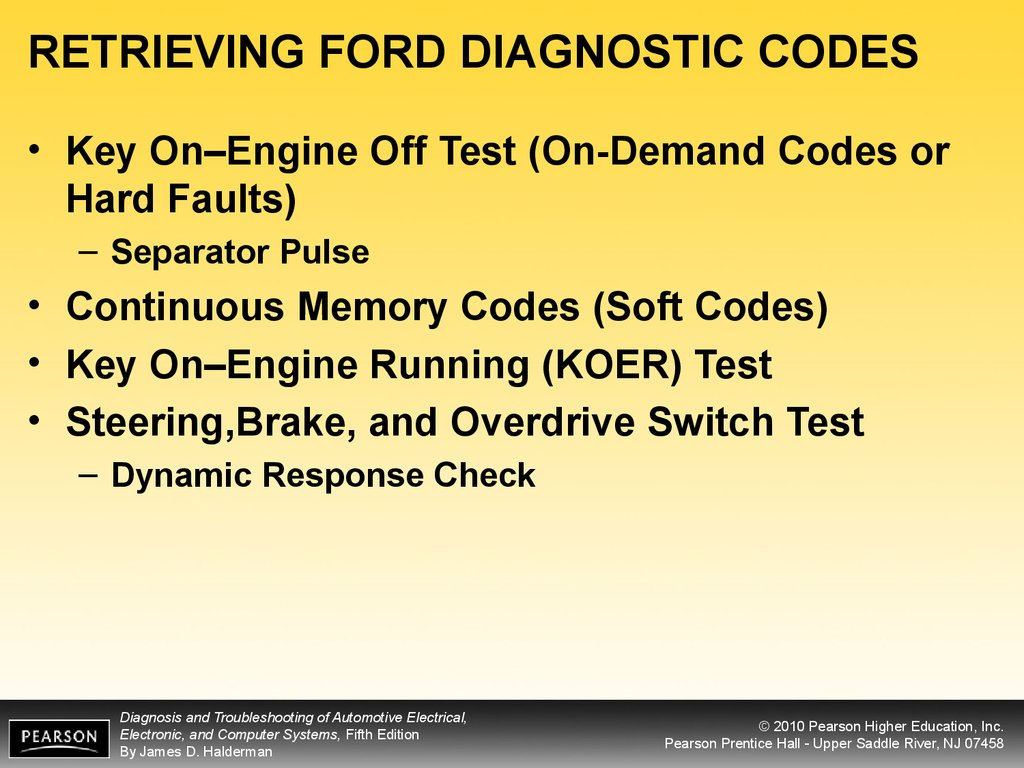 Diagnosis and troubleshooting of automotive electrical