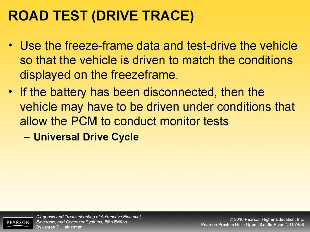 ROAD TEST (DRIVE TRACE)