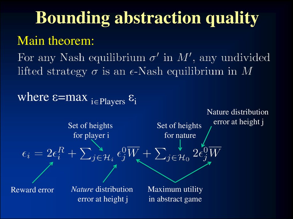 Bounding abstraction quality