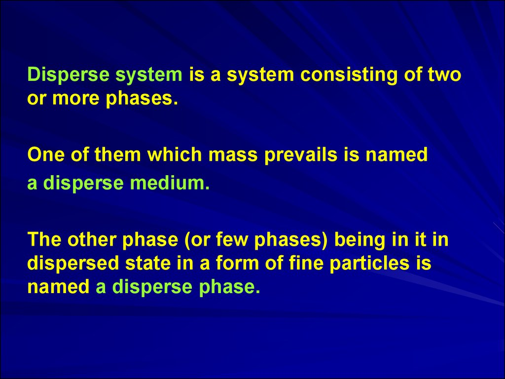 Chemistry. Dispersed systems - what is it 58