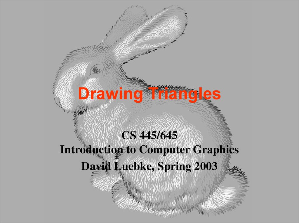 Drawing Triangles