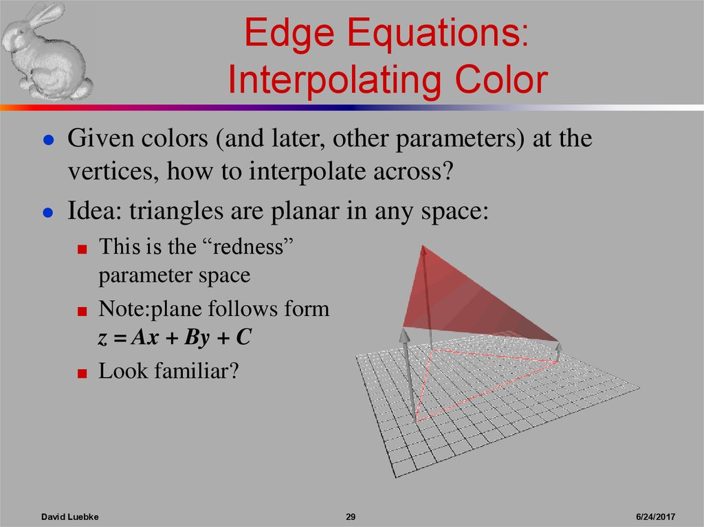 Edge Equations: Interpolating Color