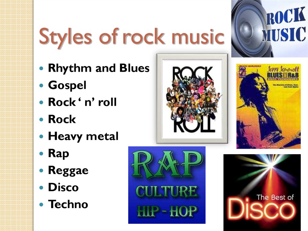 Styles of rock music