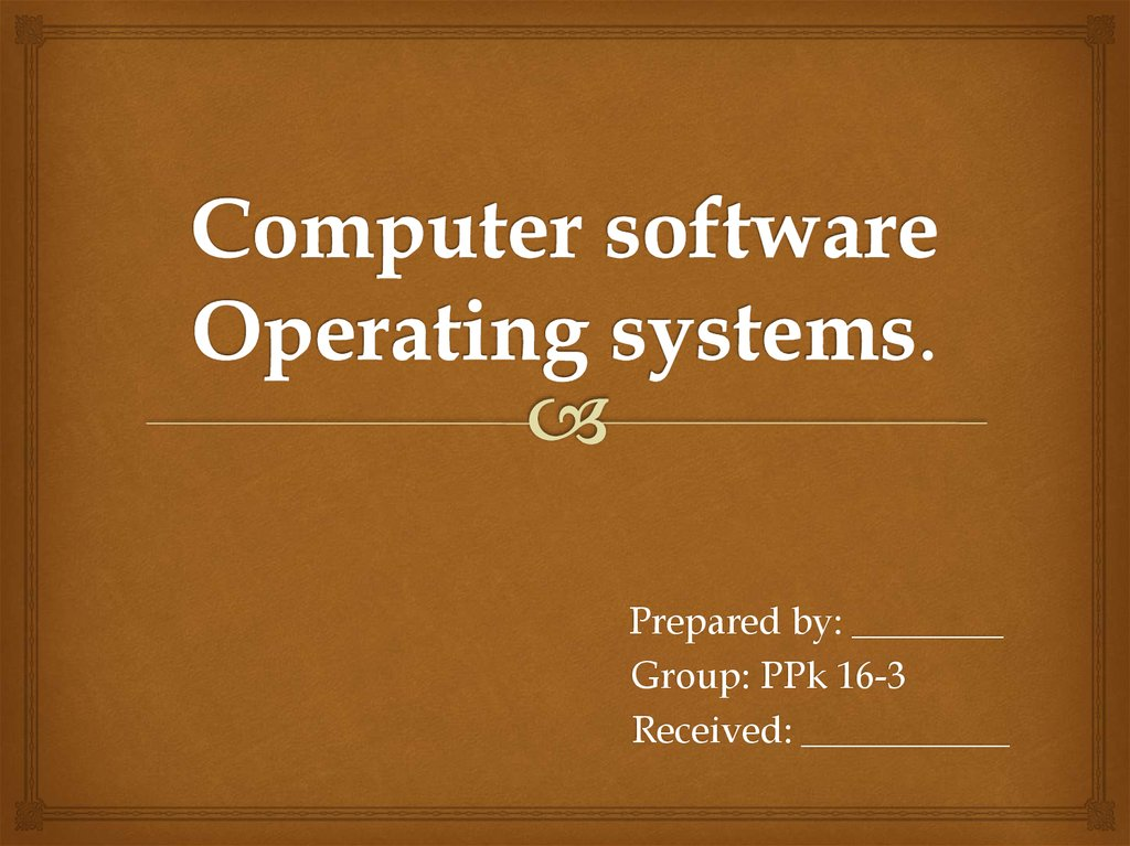 Computer software Operating systems.