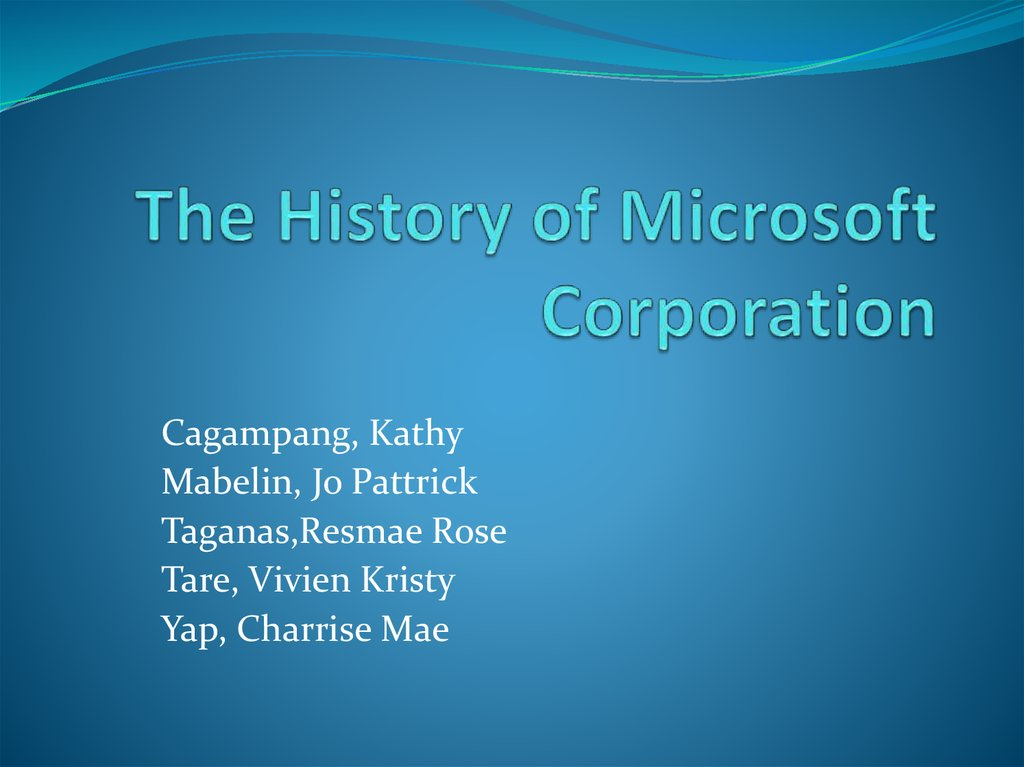 the history of microsoft corporation