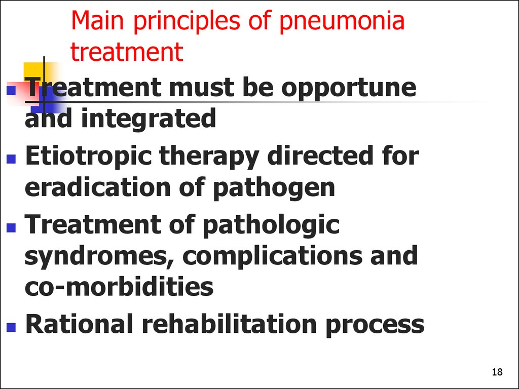 Main principles of pneumonia treatment