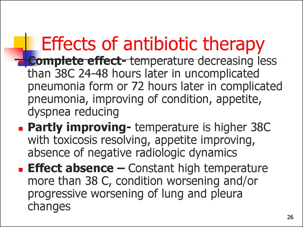Effects of antibiotic therapy