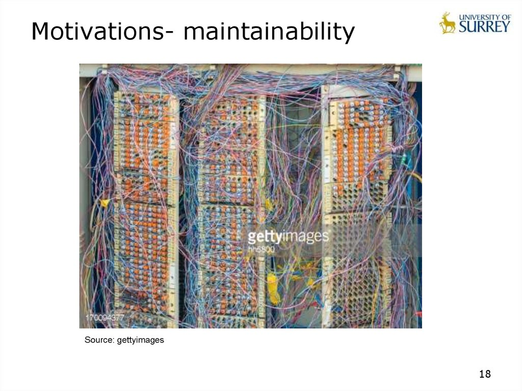 Motivations- maintainability