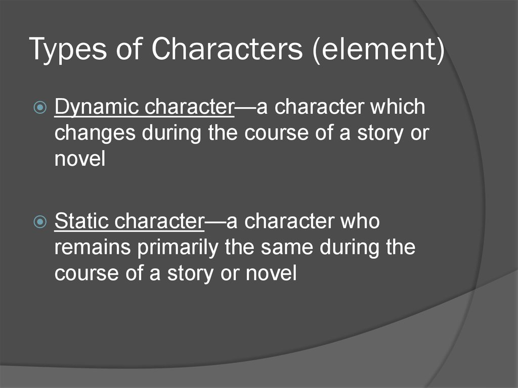 Types of Characters (element)