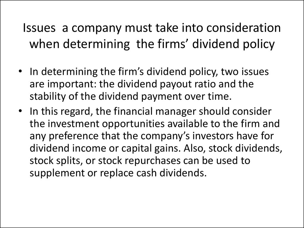 case for exam dividend policy Avon case - case 3 avon prepared by 1 avon had been changing their dividend policy helped to the purpose of the exchange offer depicted in the case was to.