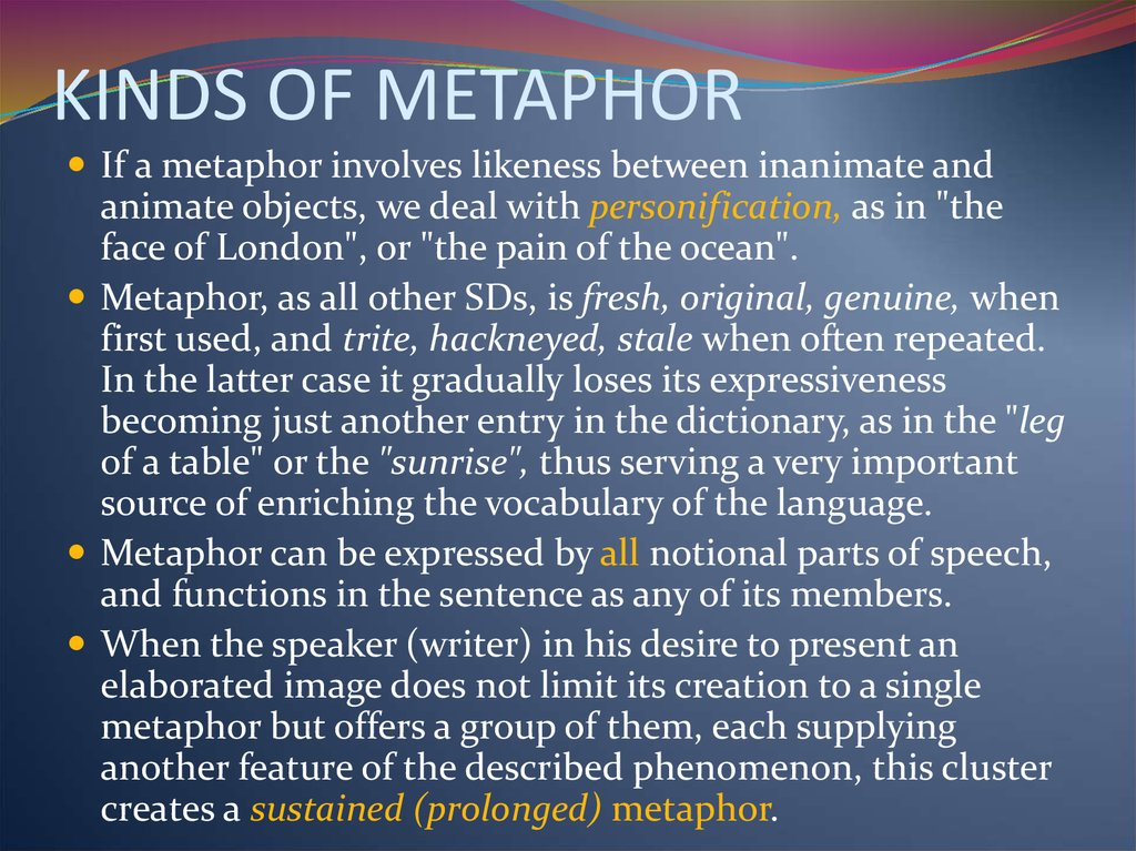 KINDS OF METAPHOR