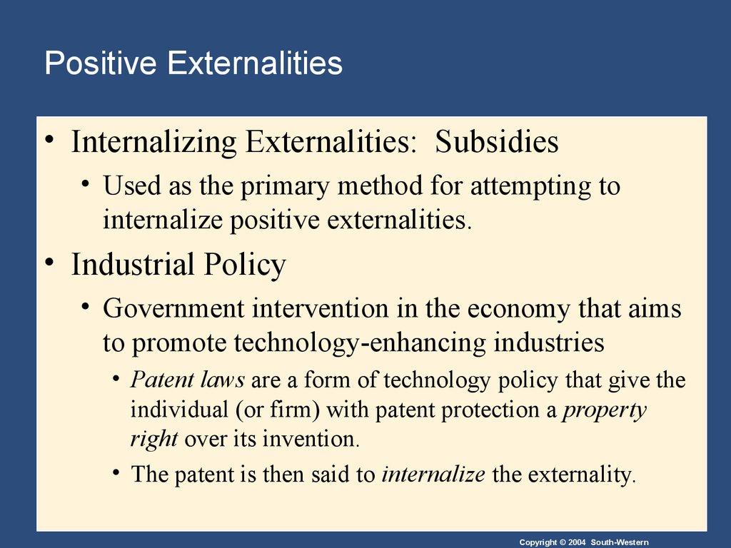 internalizing externalities essay