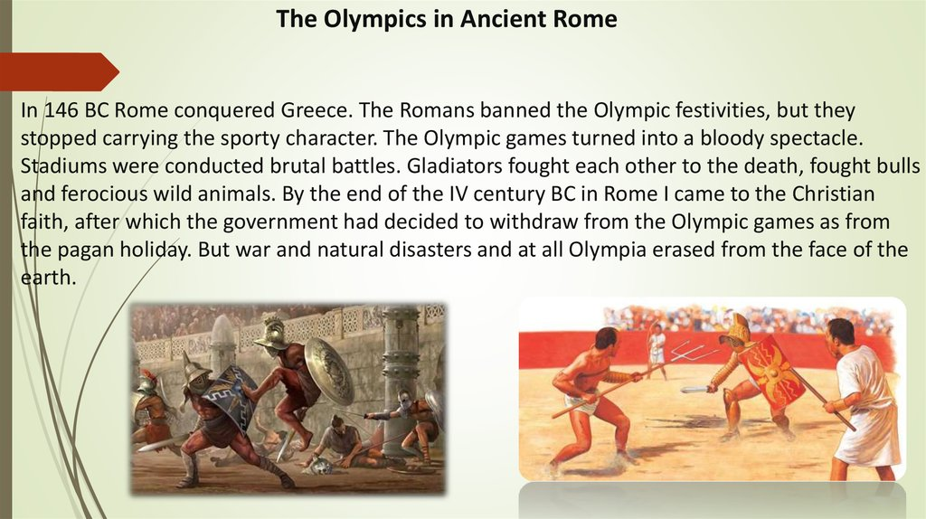 The Olympics in Ancient Rome