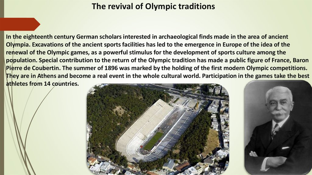 The revival of Olympic traditions
