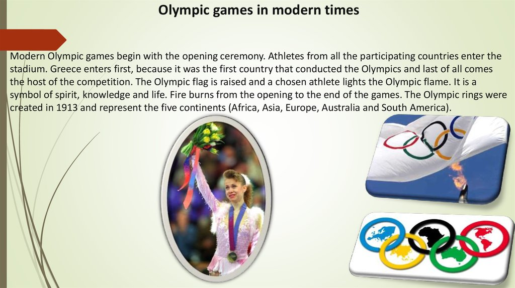 Olympic games in modern times
