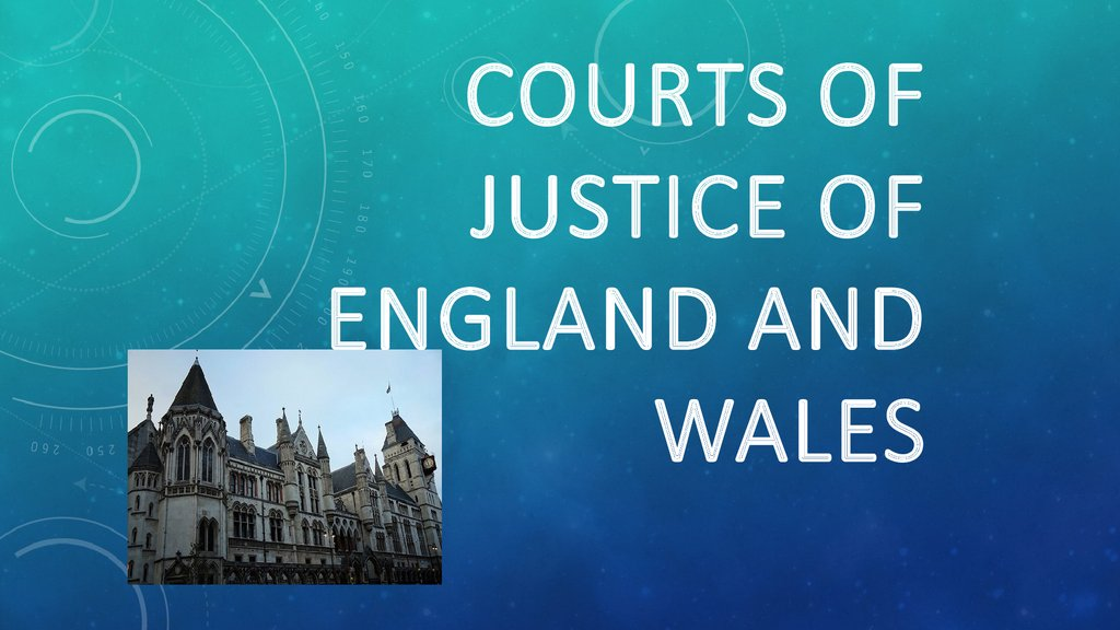 Courts of Justice of England and Wales