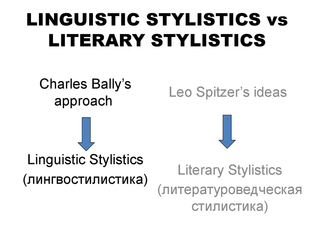 LINGUISTIC STYLISTICS vs LITERARY STYLISTICS