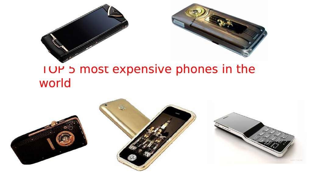 TOP 5 most expensive phones in the world