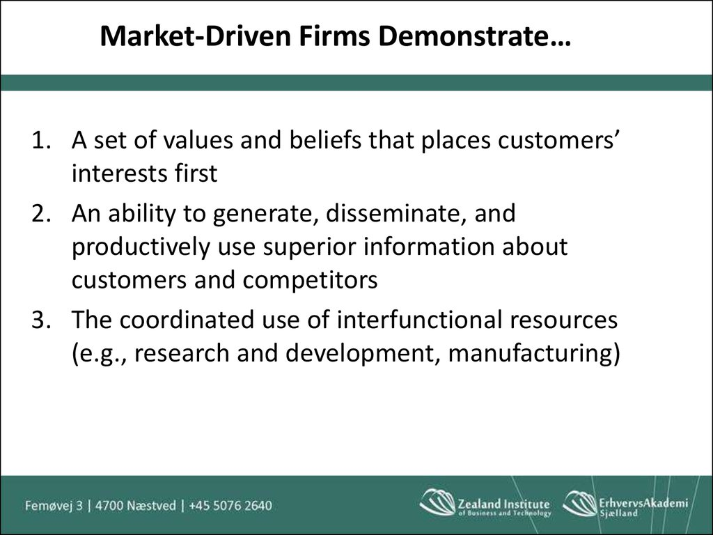 Market-Driven Firms Demonstrate…