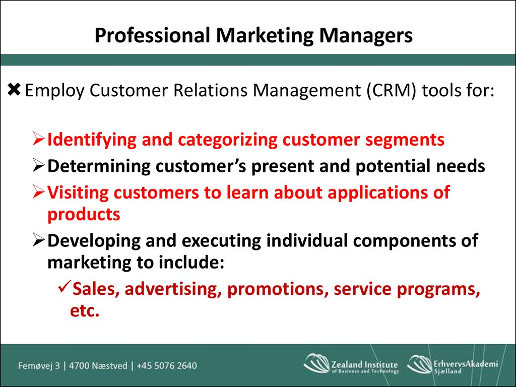 Professional Marketing Managers