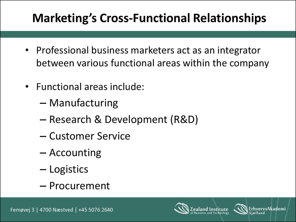 Marketing's Cross-Functional Relationships