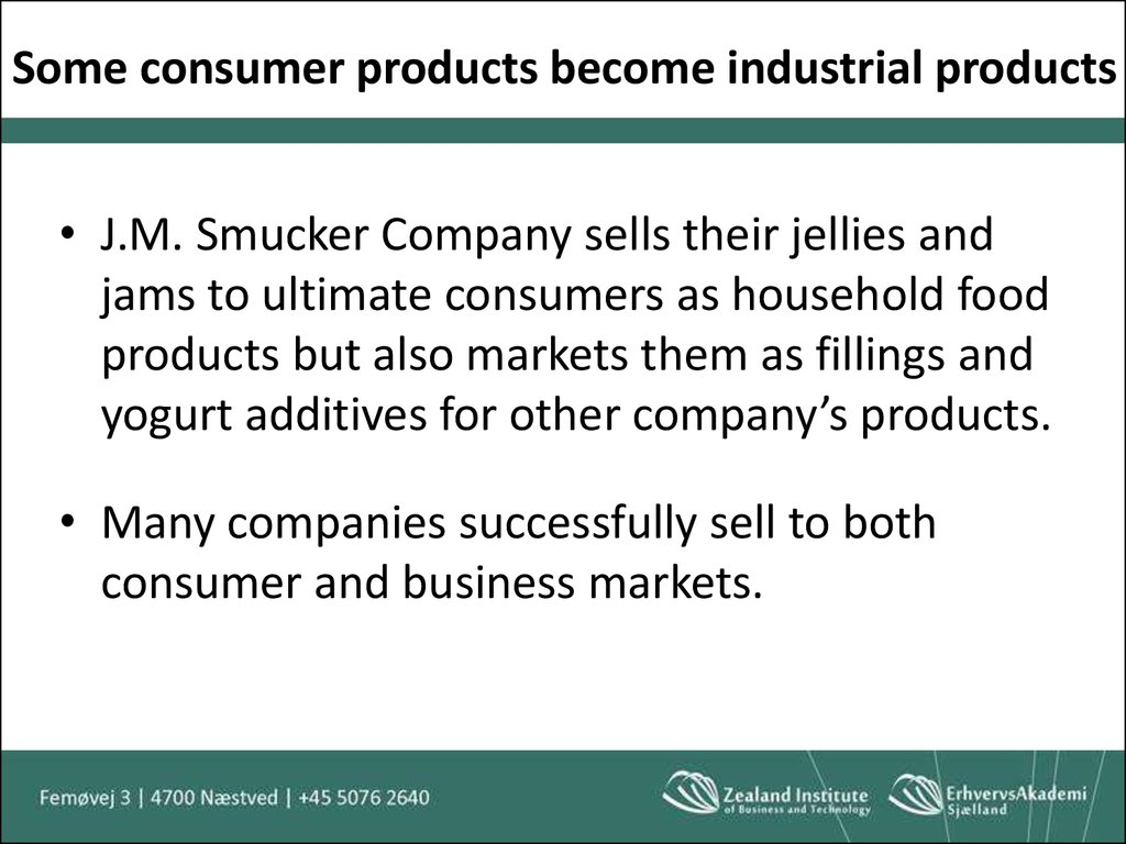 Some consumer products become industrial products