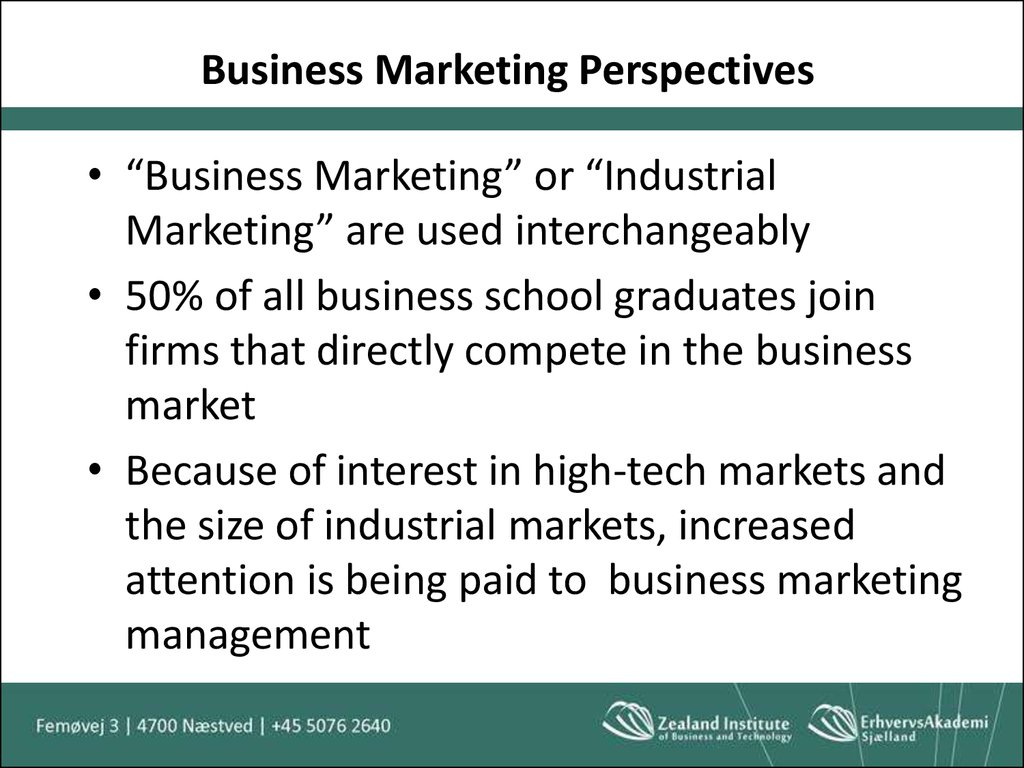 Business Marketing Perspectives