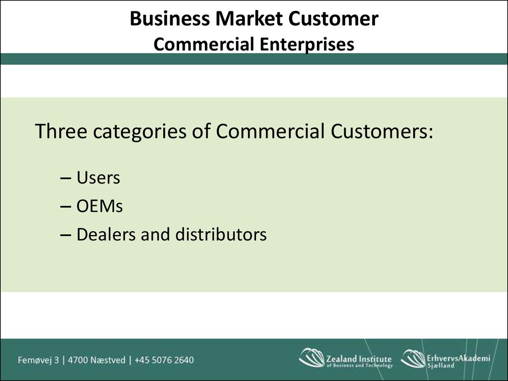 Business Market Customer Commercial Enterprises