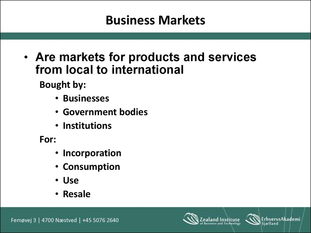 Business Markets