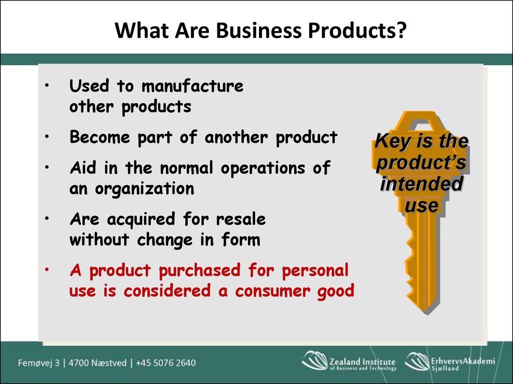 What Are Business Products?